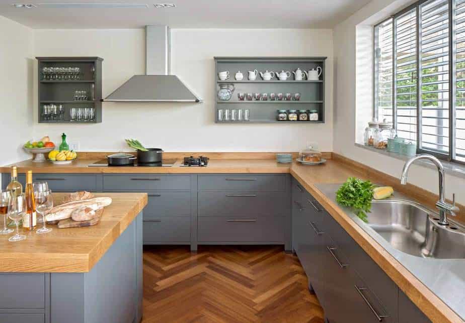 מטבח כפרי בסגנון מודרני